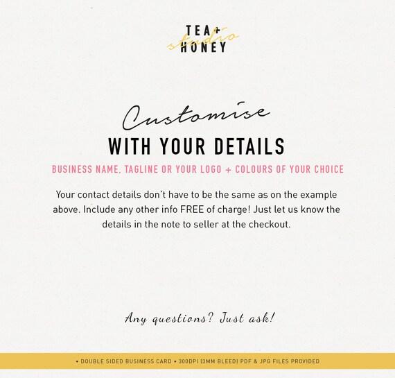 Carte De Visite Babysitter Nounou Branding Premade Design