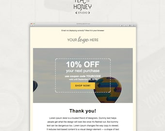 Promotional Email Newsletter Modern Handcoded Mailchimp HTML - Promotional mailer template