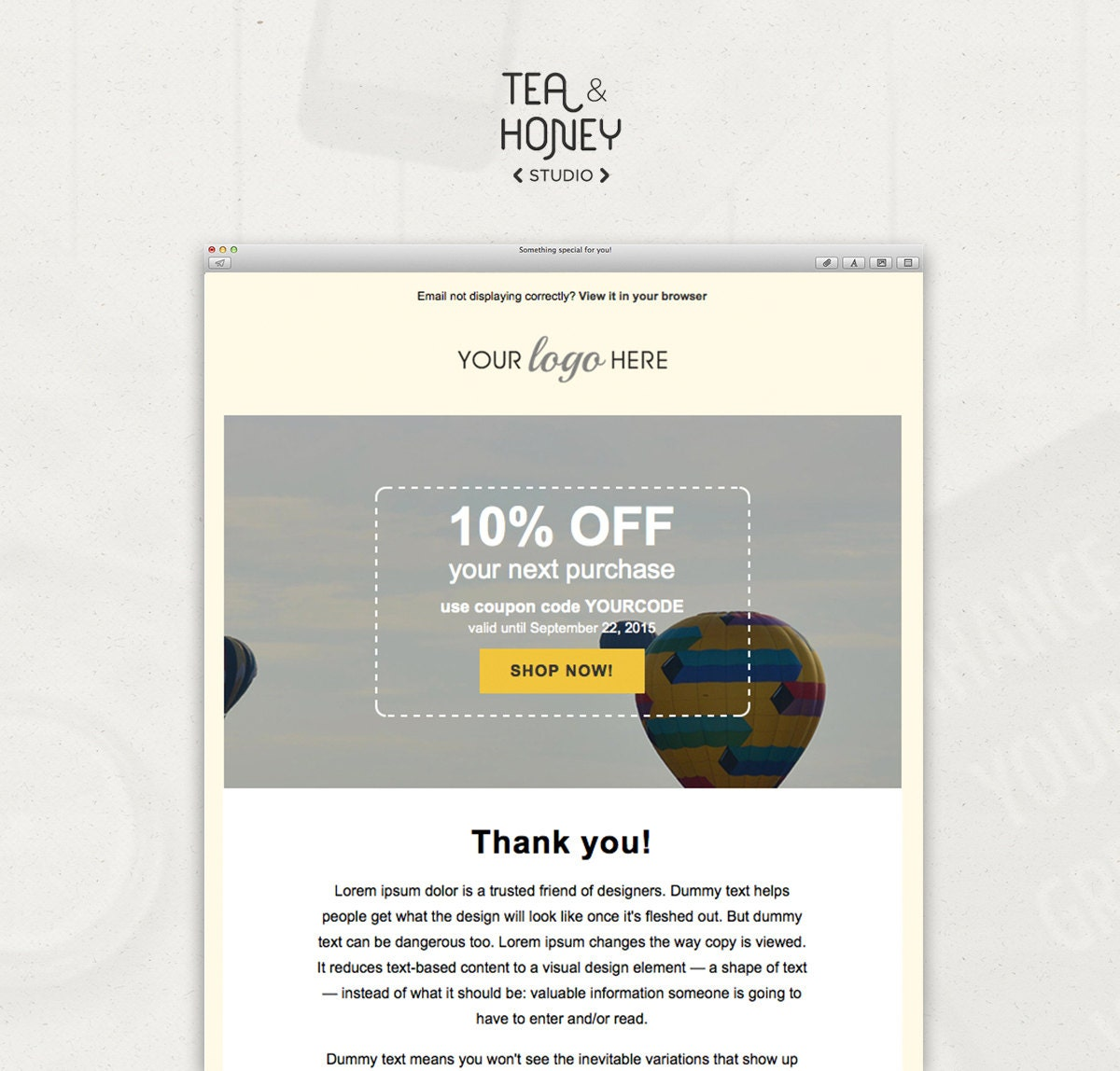 Email Newsletter Template Mailchimp compatible html coded | Etsy