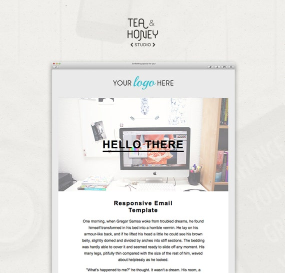 Html Email Template Mailchimp Newsletter Design Resposive Etsy