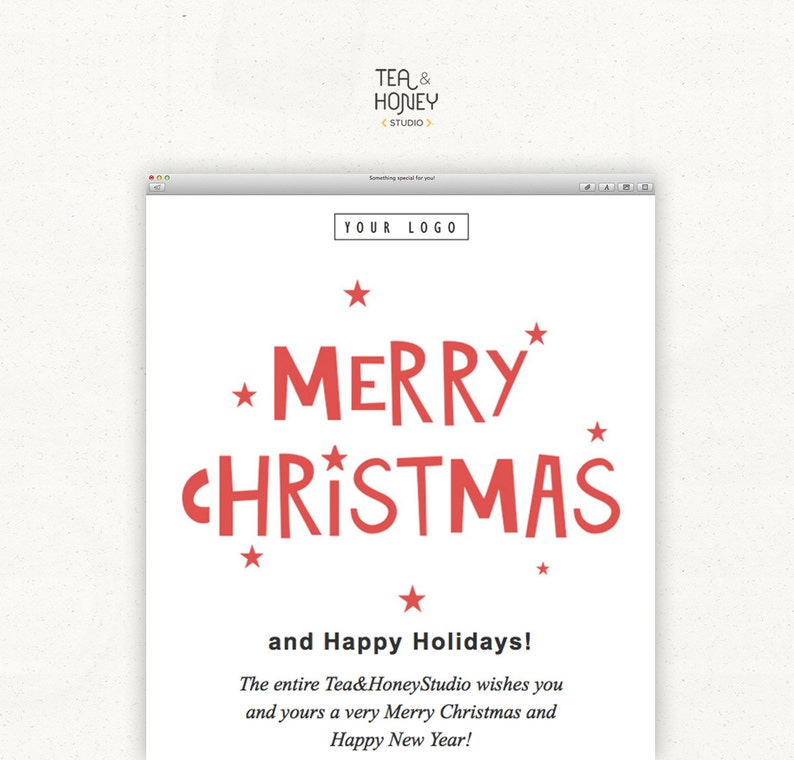 Christmas Email Newsletter Greetings HTML Mailchimp Marketing image 0