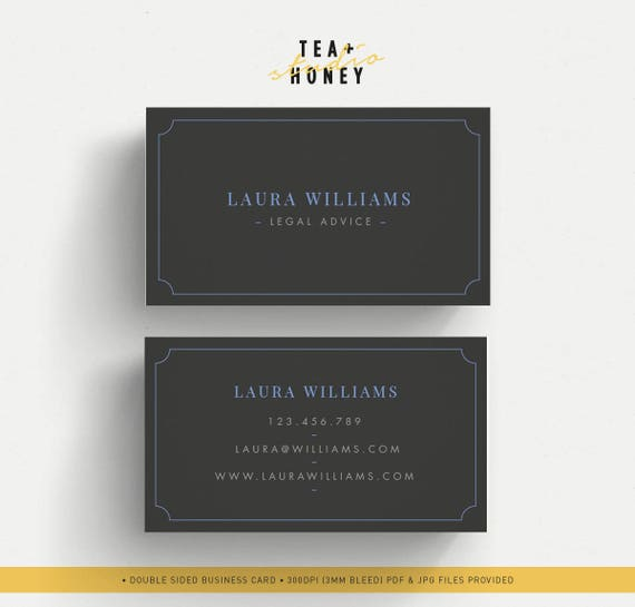 Elegant Business Card Minimal Name Card Black Business Card Etsy