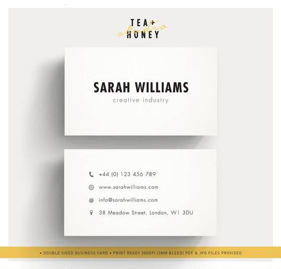 Minimalistic business cards calling card design minimal etsy image 0 reheart Choice Image