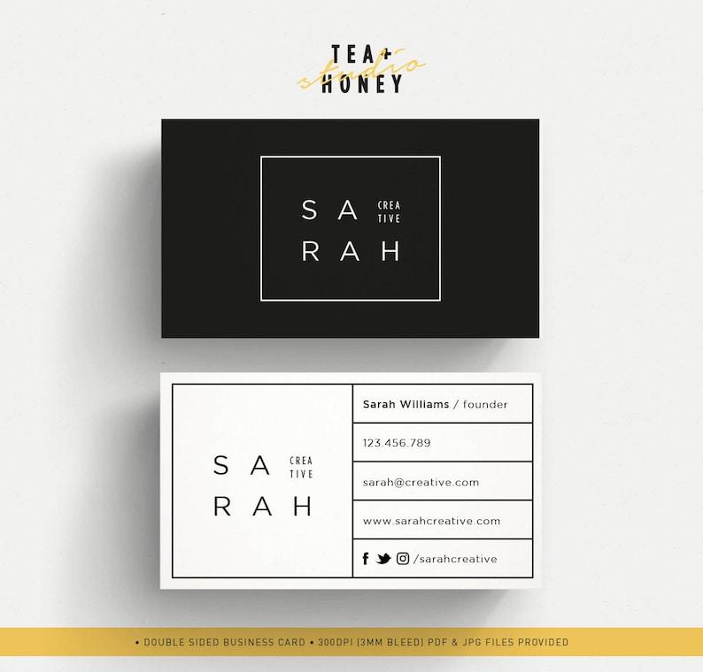 Carte De Visite Professionnelle Design Noir Et Blanc