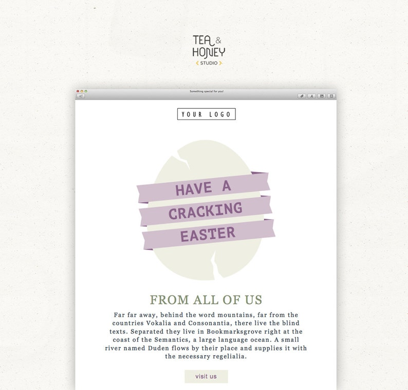 Easter Mailchimp Email Template Easter Greetings Seasonal image 0