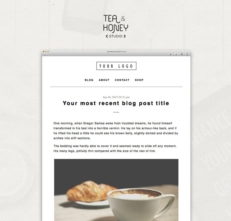 RSS Mailchimp Email Newsletter Template Send your latest blog image 0