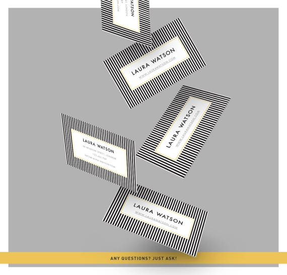 Streifen Hintergrund Visitenkarte Visitenkarte Vorlage Moderne Visitenkarte Design Einzigartige Visitenkarte Vorgefertigte Design Retro Design