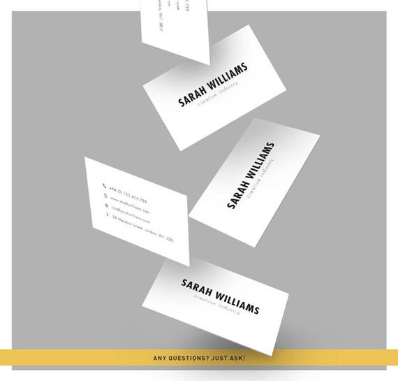 Minimalistic business cards calling card design minimal etsy minimalistic business cards calling card design minimal design simple business card black white promotional card minimalistic brand reheart Images