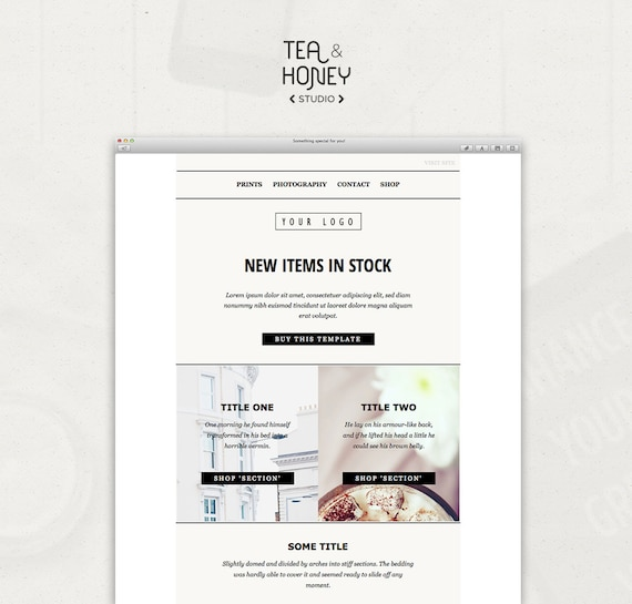 Mailchimp Email Template Sales Responsive Html Email Modern Etsy