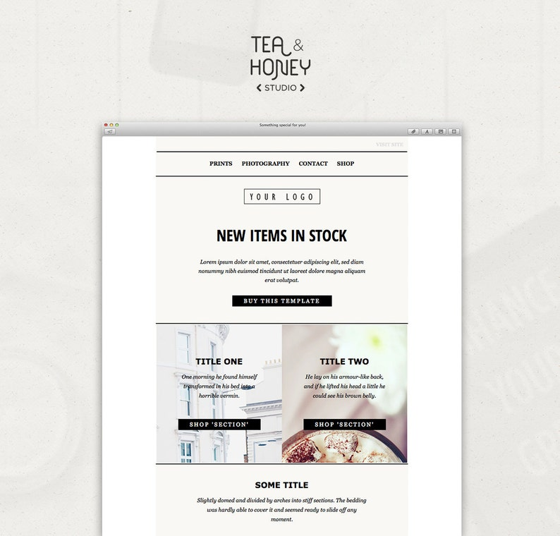 Mailchimp Email Template Sales Responsive HTML email Modern image 0
