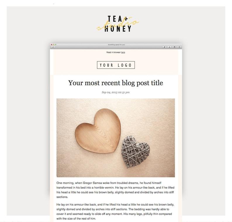 Latest Blog RSS Mailchimp Template, Modern Design HTML designed Email  Newsletter Template, Instant Download Emailer Online Marketing