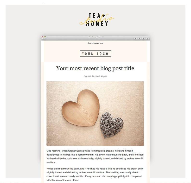 Latest Blog RSS Mailchimp Template Modern Design HTML image 0