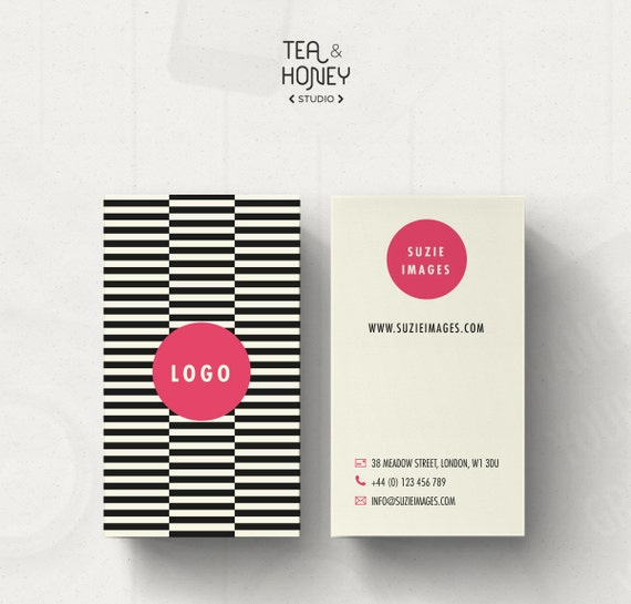 Unique business card design pattern business card template etsy image 0 reheart Choice Image