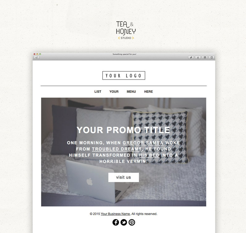 Promotional Email Newsletter Modern Handcoded Mailchimp HTML image 0
