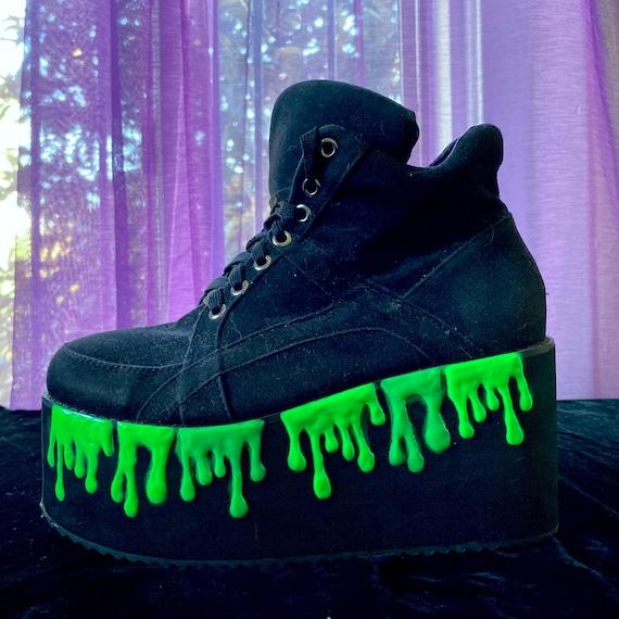 Slime Platform Shoes Neon Green Rave