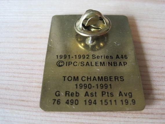 Vintage Tom Chambers Phoenix Suns 1991 NBA Lapel Hat Pin