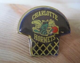 Vintage Charlotte Hornets Hoop 1994 NBA Lapel/ Hat Pin