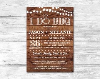 i do bbq couples shower invitation wedding shower bbq invitation rustic wood printable