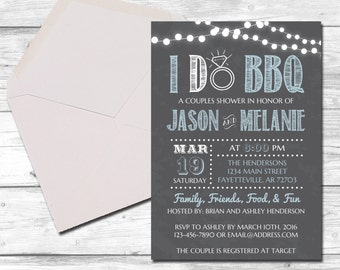 i do bbq couples shower wedding shower i do bbq invitation barbecue chalkboard country rustic bridal shower printable 5x7