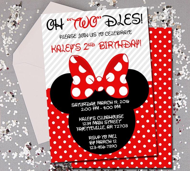 Minnie Mouse Birthday Invitation 2nd