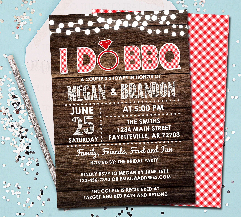 Wedding E Invitations: I Do BBQ Couples Shower Wedding Shower I Do Bbq Invitation