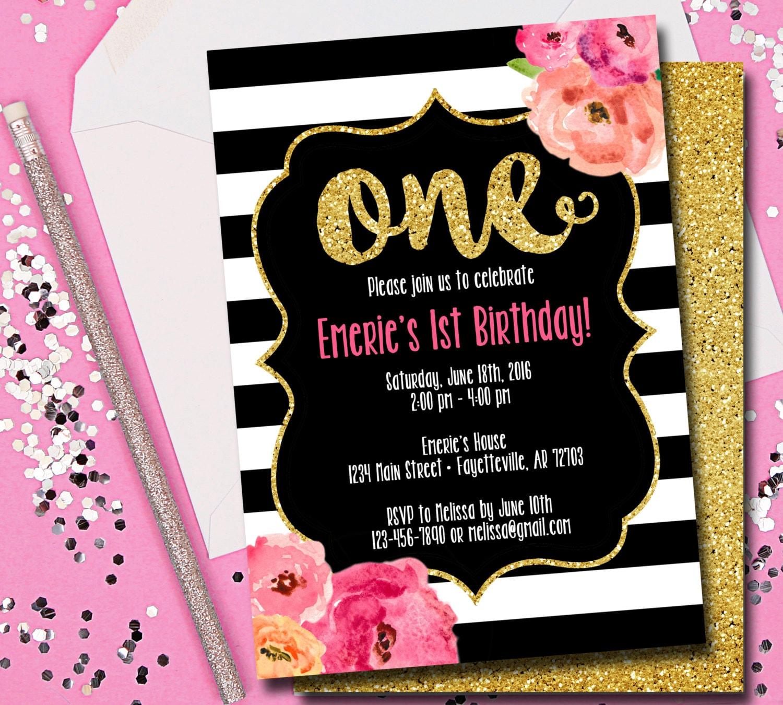 Birthday Invitation Birthday First Birthday 1st Birthday