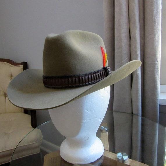 Stetson 3X Beaver Unisex Cowboy Hat Circa 1980  3d0c2b2dcbd