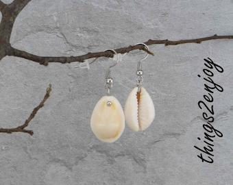 Earrings - kauri shell