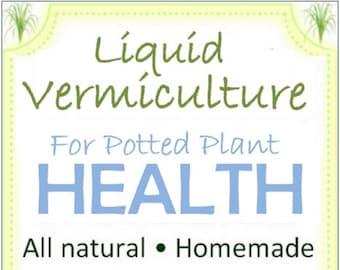 "Vermiculture  ""Tea"" - 2 oz. Mini Size for Potted Plants - All Natural Fine Mist"