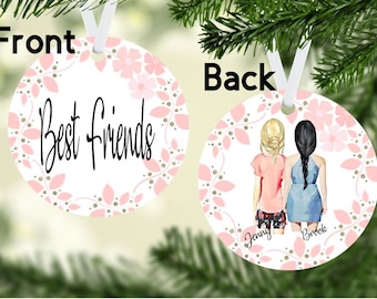 best friends ornamentpersonalized ornamentpersonalize ornamentbesties bffbest friendchristmas friends ornament gift ideasfriends