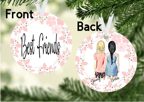 Christmas Ideas For Friends.Best Friends Ornament Personalized Ornament Personalize Ornament Besties Bff Best Friend Christmas Friends Ornament Gift Ideas Friends
