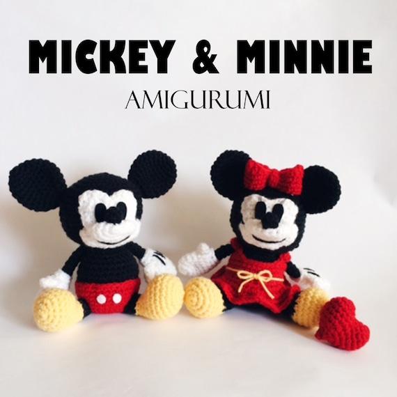 Mickey & Minnie Mouse Amigurumi Crochet Pattern PDF | Etsy