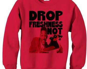 9954c551389 Fresh prince michael jordan 12 flu game black red bred retro xii - fleece  sweatshirt sweater red