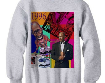 690b63743154 Concord 11 xi history shirt 1996 dream team jordan retro bel air barkley  tshirt vintage spike lee bulls - fleece sweatshirt sweater ash grey