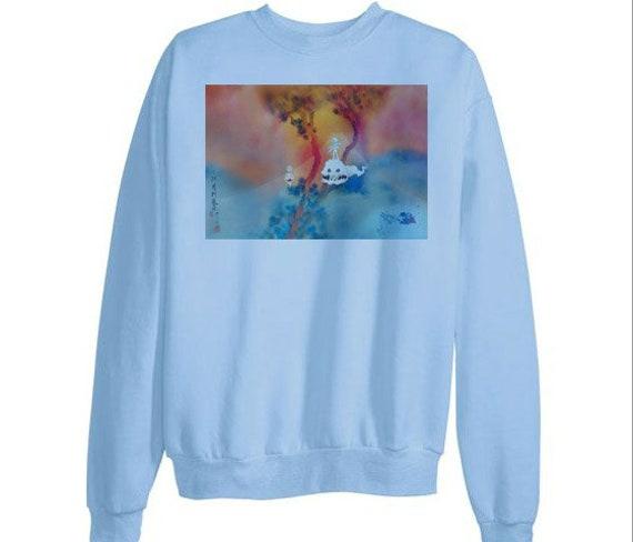 Kids See Ghosts Sweatshirt Kanye West Kid Cudi Kanye Crewneck Etsy
