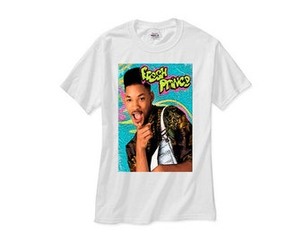 Fresh prince bel air tv 90s michael jordan retro bulls tee shirt tshirt