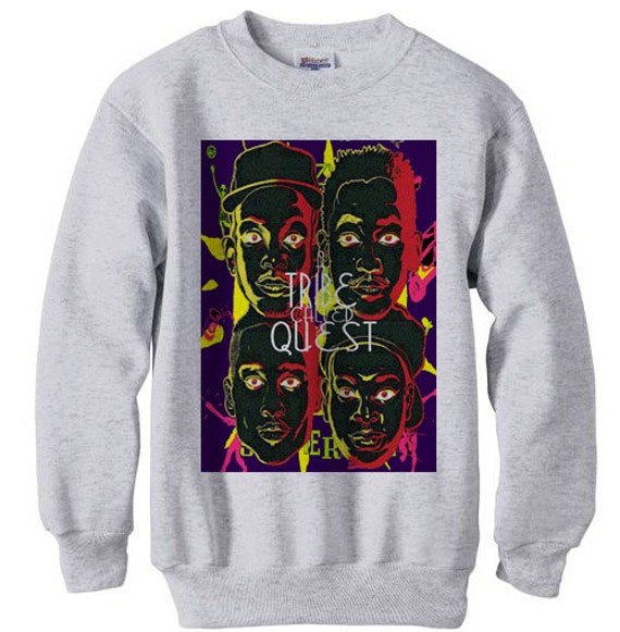 a tribe called quest marauders atcq wu tang instinct low end - fleece sweatshirt sweater grey AYi5bb