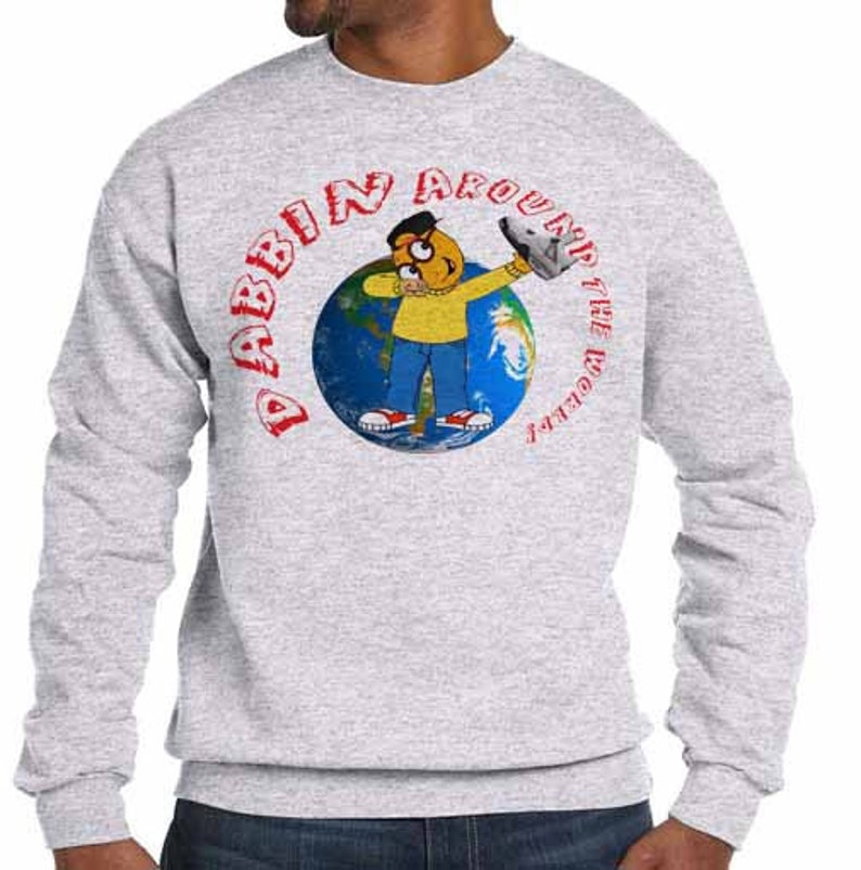 wholesale dealer 56c1c 0a683 Dabbin migos cam newton jordan retro 4 white cement young thug - fleece  sweatshirt sweater grey