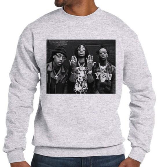 low priced ab256 1729f Dabbin migos young thug cam newton jordan retro trap rap hip hop drake -  fleece sweatshirt sweater grey