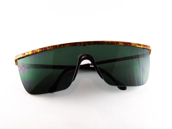 VALENTINO Vintage Mask Sunglasses - 90s Sunglasses