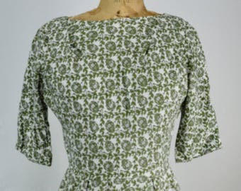 1950s Floral Pinup Wiggle Dress, Dress, 1950s Wiggle Dress, Vintage Dress, Pinup Dress, 1950s, 50s Dress, 1950s Dress, Floral Dress, 1950s