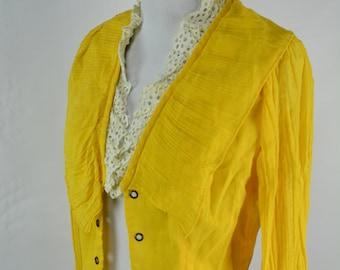 C1970s Tickles Yellow Corset Blouse, Waistcoat, Corset Top, 1970s Blouse, 70s Top, 1970s Vintage Blouse, Blouse, 1970s,70s Blouse, 1970s Top