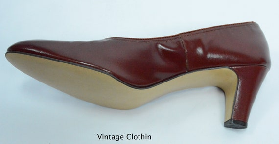 1980's does 1950s Penaljo Wine Color Pumps, New O… - image 9