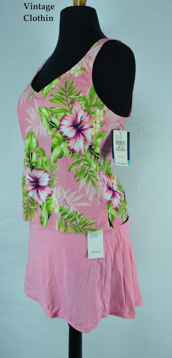 1990s Jantzen Pink Two Piece Bathing Suit, Bikini… - image 5