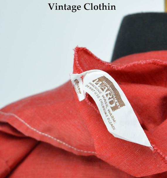 C1970s Montgomery Ward Red Dress, 1970s Dress, 70… - image 9