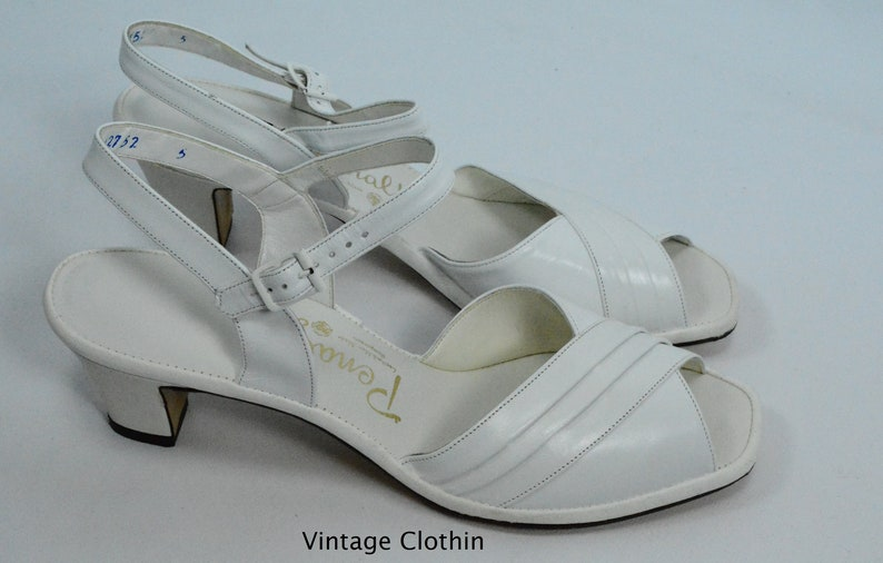 640580a8cce0c 1982 Penaljo White Peep Toe Sandals New Old Stock 1980s | Etsy