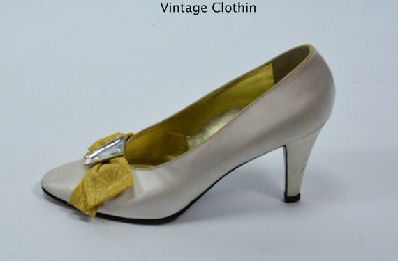 1980s Vintage Yves Saint Laurent Shoes, YSL Shoes,