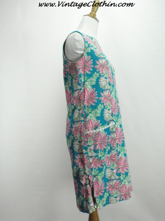 1990s Does 1960s Lilly Pulitzer Floral Shift Dres… - image 2