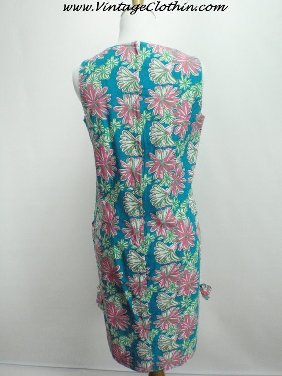 1990s Does 1960s Lilly Pulitzer Floral Shift Dres… - image 3