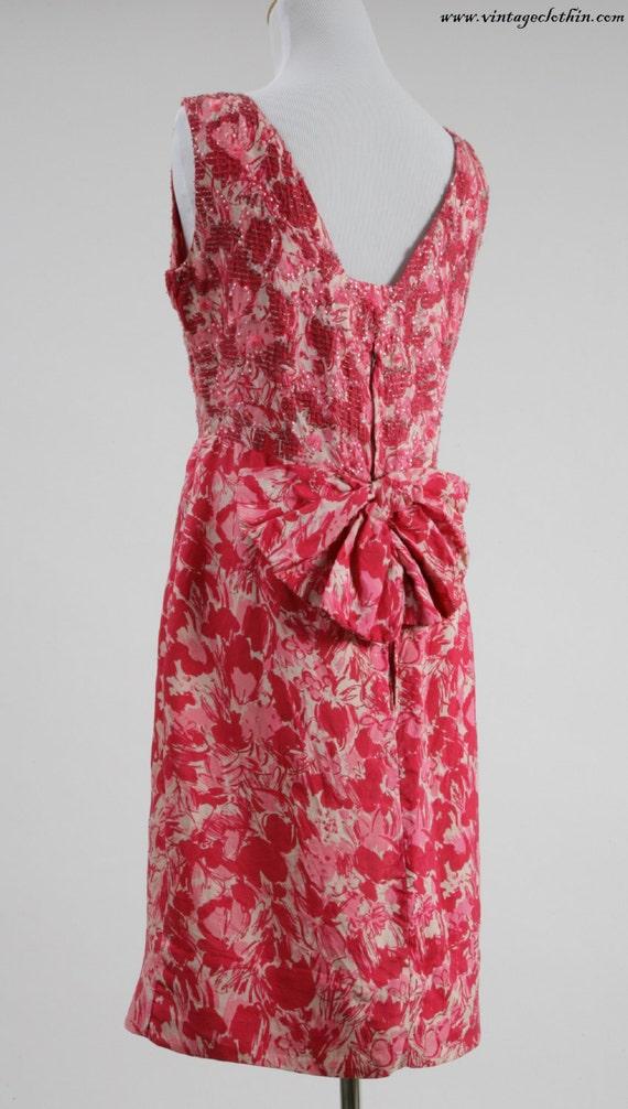 1950s Beaded Wiggle Dress, 1950s Dress, Wiggle Dr… - image 3